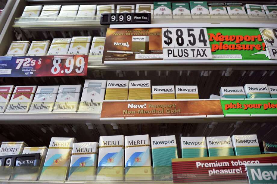 Cigarettes for sale at Coulson's at Newton Plaza Wednesday, Feb. 5, 2014, in Colonie, N.Y.  (John Carl D'Annibale / Times Union archive) Photo: John Carl D'Annibale / 00025644A