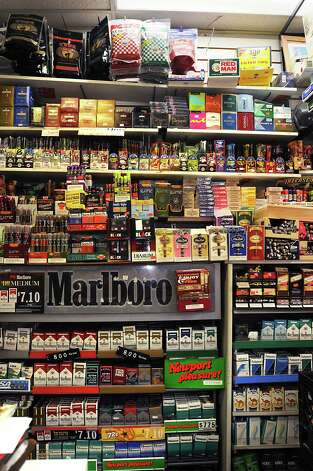 Shelves of tobacco products behind the front counter at Easha Convenience store Nov. 4, 2009, in Albany, N.Y.  (Lori Van Buren / Times Union archive) Photo: LORI VAN BUREN / 00006272A