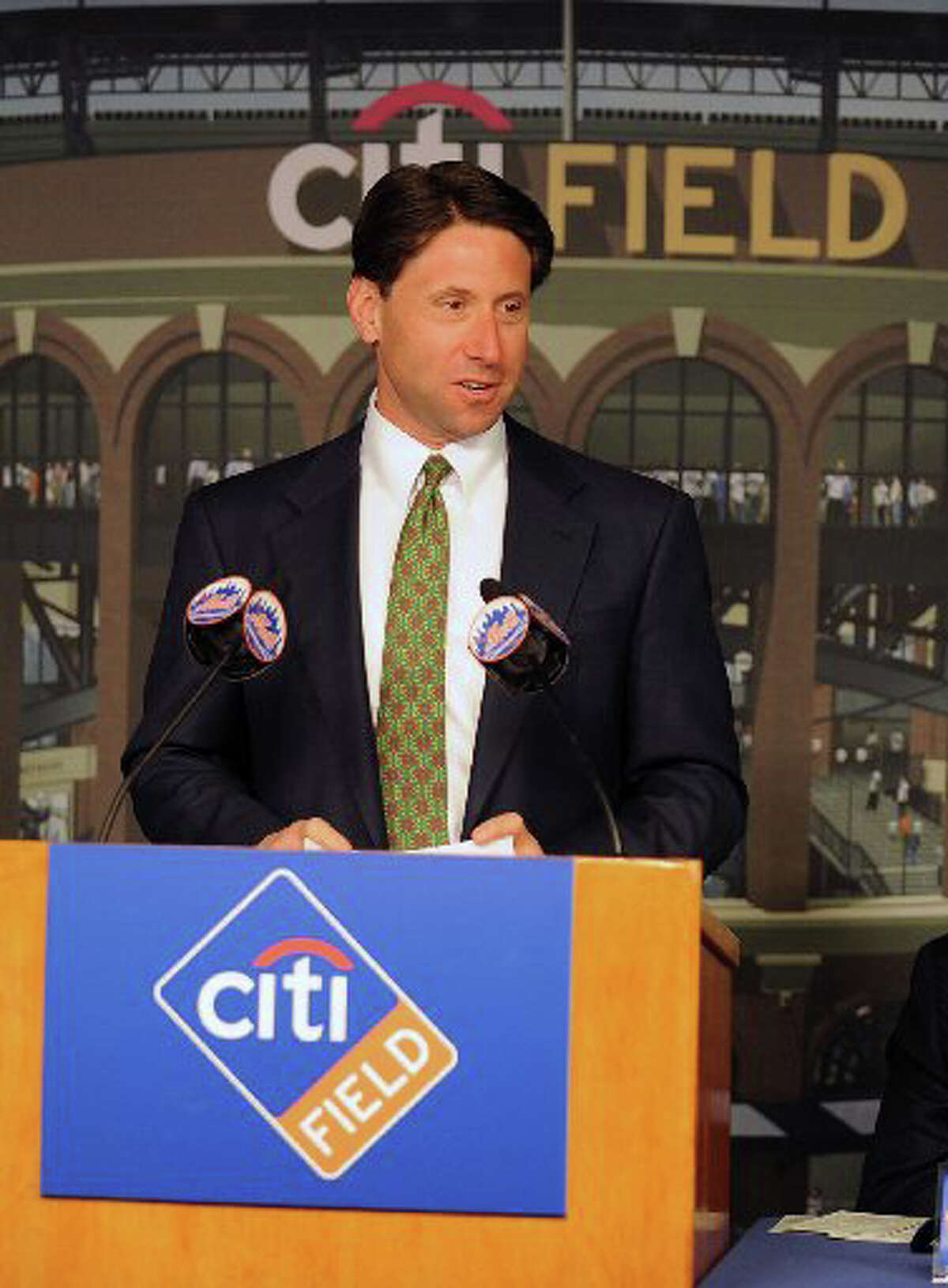 Greenwich resident and Mets COO Jeff Wilpon has been sued by a team executive who says she was fired for having a baby out of wedlock.
