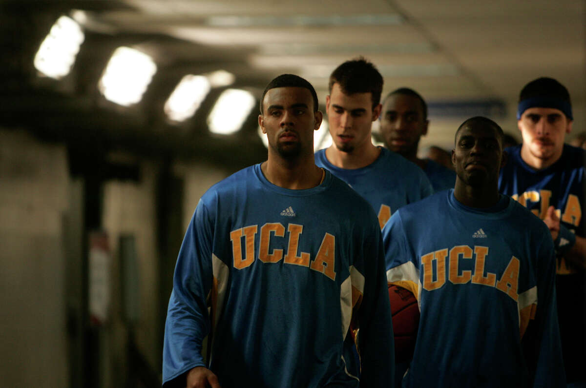 UCLA heads from the locker room to the court for the start of Game One of the Final Four in San Antonio on Saturday April 5, 2008.