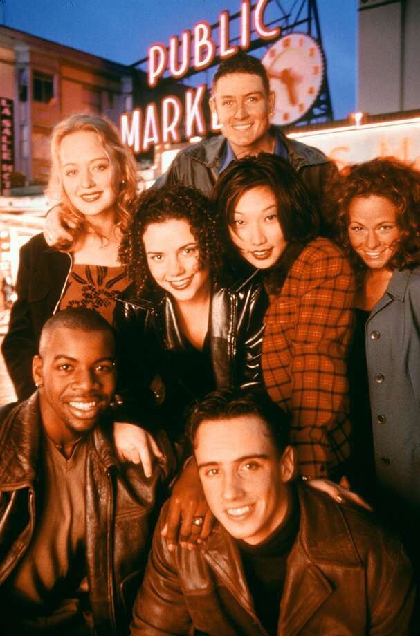 "The cast of MTV's ""The Real World: Seattle"" in 1998: From top, Nathan Blackburn; middle row, from left: Rebecca Lord, Irene McGee, Janet Choi and Lindsay Brien; bottom row: Stephen Willams, left, and David Burns. They lived in a house on Pier 70 that's no longer there.  Photo: JIMMY MALECKI, P-I File"