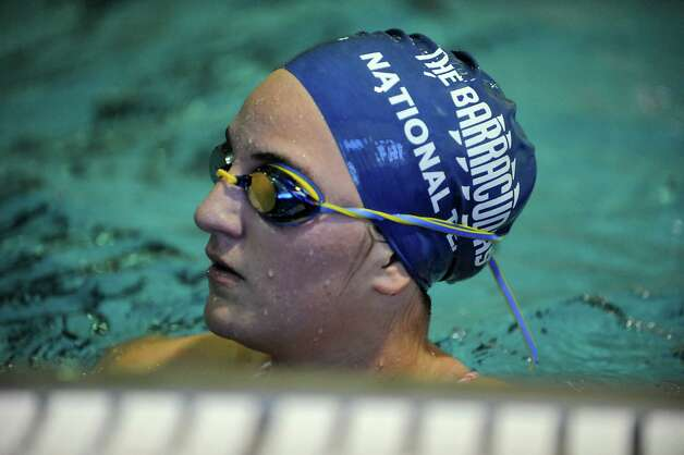 Albany Academy for Girls swimmer Julie Ehrlich practices with her team on Tuesday, Sept. 2, 2014 in Albany, N.Y. (Lori Van Buren / Times Union) Photo: Lori Van Buren / 10028396A