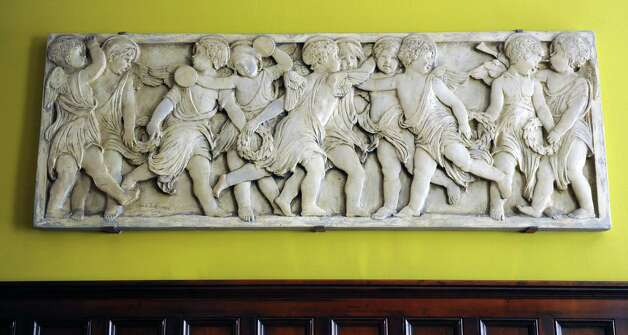 A bas-relief in the library area in the St. Andrew's Society on Wednesday, Sept. 10, 2014 in Albany, N.Y. (Lori Van Buren / Times Union) Photo: Lori Van Buren / 00028556A