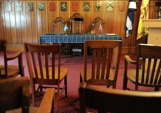 The meeting room in the St. Andrew's Society on Wednesday, Sept. 10, 2014 in Albany, N.Y. (Lori Van Buren / Times Union) Photo: Lori Van Buren / 00028556A