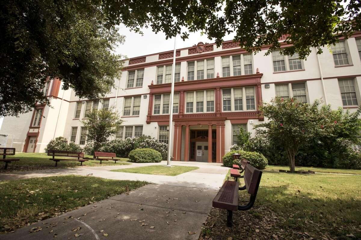 The original Phillis Wheatley High School at 1700 Gregg unmolestd by demolition crews on Aug. 25, 2014, in Houston. (Brett Coomer   Houston Chronicle)
