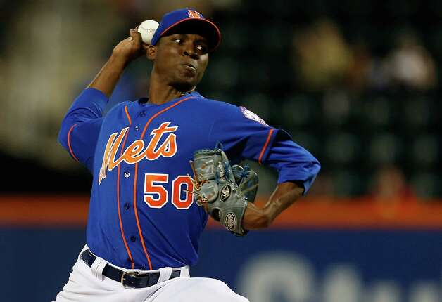 NEW YORK, NY - SEPTEMBER 10: Rafael Montero #50 of the New York Mets pitches in the first inning against the Colorado Rockies at Citi Field on September 10, 2014 in the Flushing neighborhood of the Queens borough of New York City. (Photo by Mike Stobe/Getty Images) ORG XMIT: 477589721 Photo: Mike Stobe / 2014 Getty Images