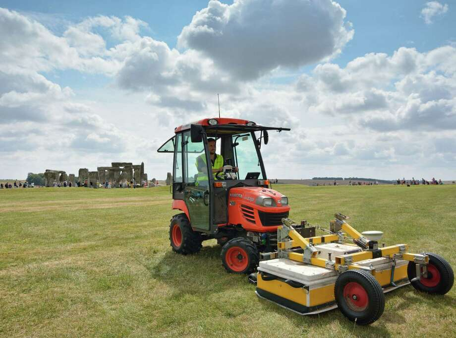 Ground-penetrating radar is used near Stonehenge's standing stones to scan for archaeological sites. Evidence of 17 ritual monuments has been uncovered. Photo: Geert Verhoeven / University Of Birmingham / University of Birmingham