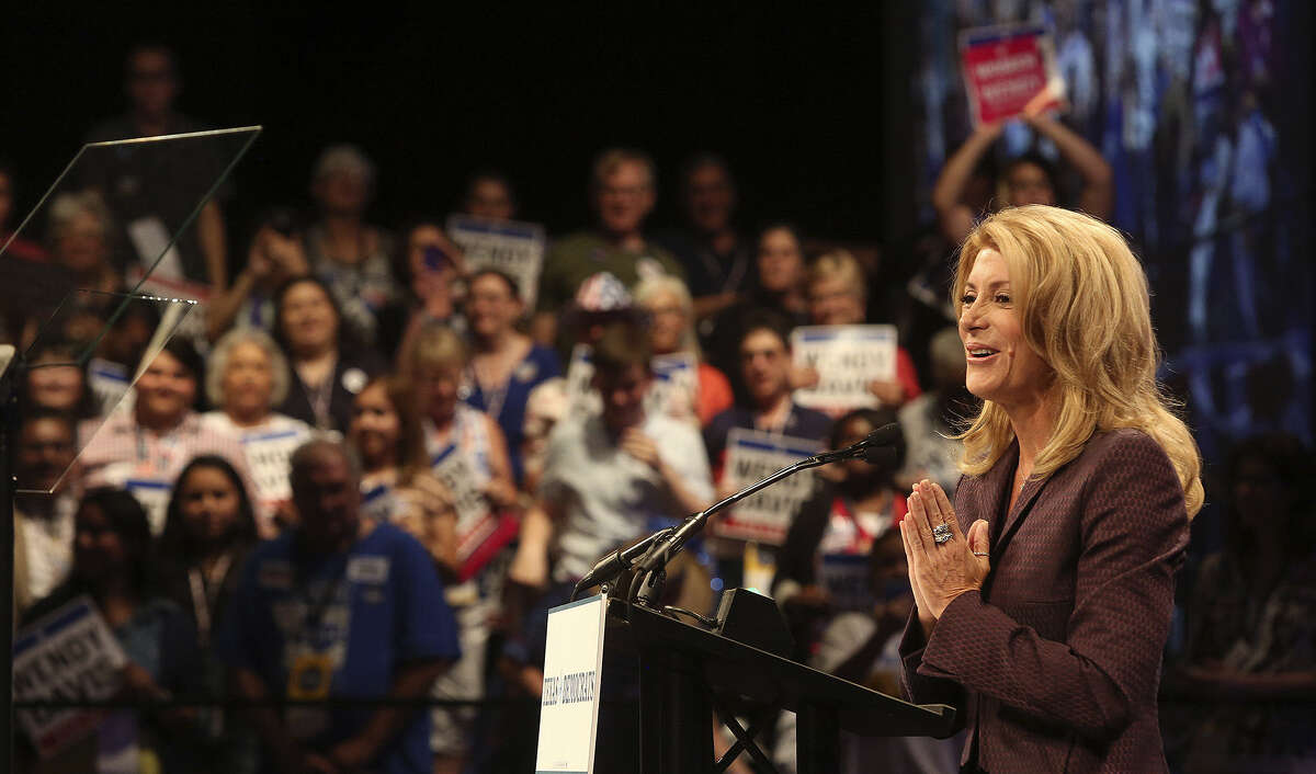 """In her memoir, """"Forgetting to be Afraid,"""" Democratic gubernatorial candidate Wendy Davis described the end of what she called much-wanted pregnancies."""