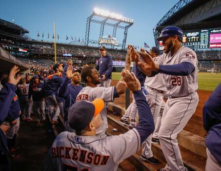 September 10: Astros 5, Mariners 2  Jose Altuve became the second Astro to join the 200-hit club and the Astros took the series in Seattle with the win on Wednesday night.  Record: 65-81. Photo: Otto Greule Jr, Getty Images
