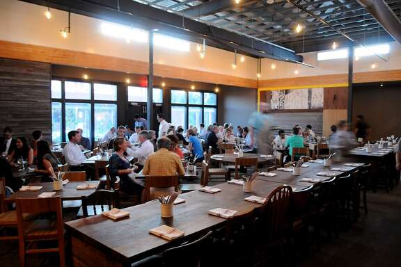 The main dining room at Underbelly. (Photo: Dave Rossman/For the Chronicle)