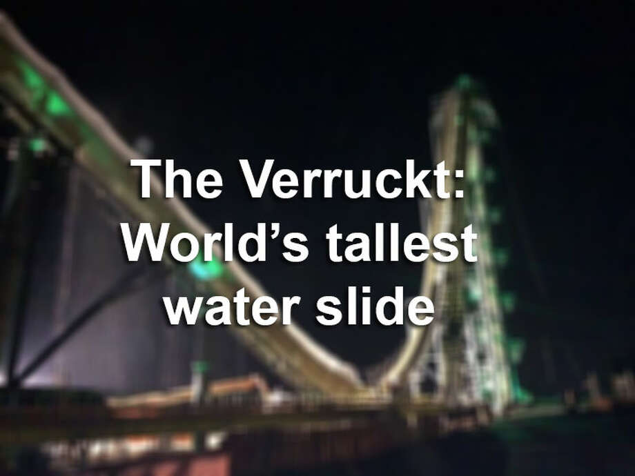 The Verruckt, a 168 foot water slide at the Schlitterbahn in Kansas City, Kansas, was built in New Braunfels, Texas, at the water park's 