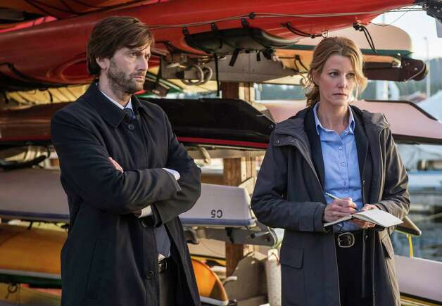 """Guess this is one mystery that won't get solved. FOX's """"Gracepoint,"""" the mystery that follows the tragic death of a young boy and its subsequent police investigation and media frenzy, has been canceled after only one season. Low ratings are to blame, according to Entertainment Weekly. Keep clicking to see what other TV shows got the ax this year. Photo: Ed Araquel, Handout / ONLINE_CHECK"""