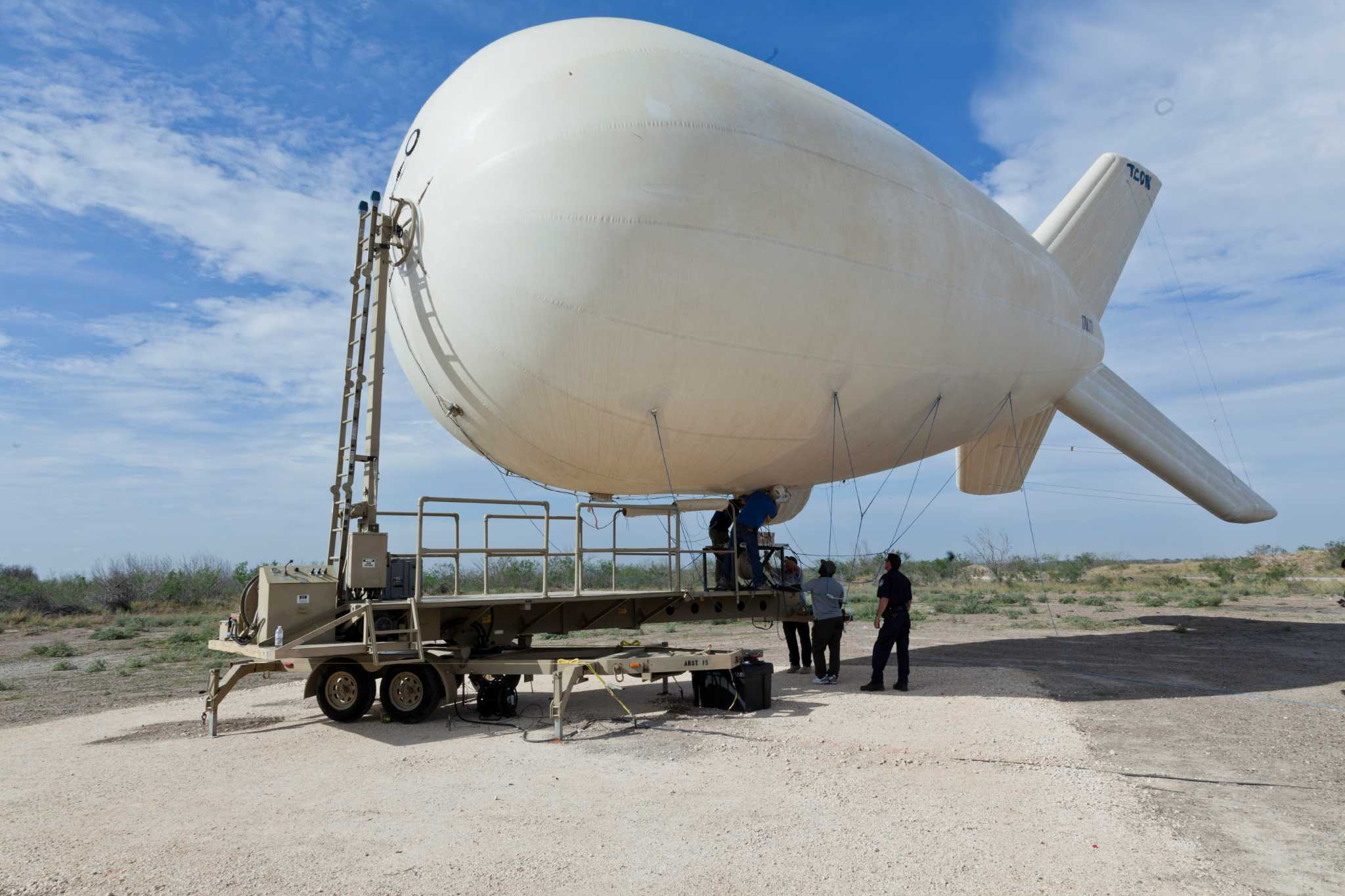 Surveillance balloons help agents along Texas-Mexico border