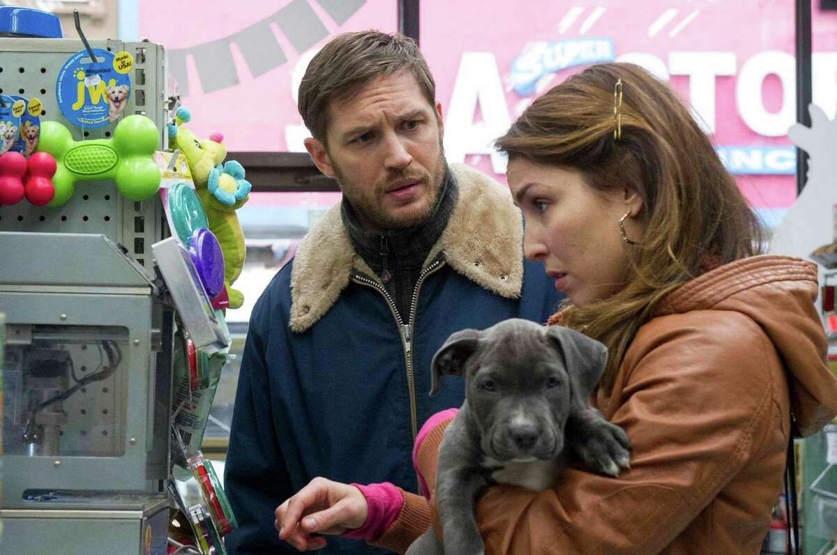 """This photo released courtesy of Fox Searchlight shows Tom Hardy, left, as ?""""Bob?"""" and Noomi Rapace as ?""""Nadia,"""" in the film, """"The Drop."""" (AP Photo/Copyright Twentieth Century Fox, Fox Searchlight, Barry Wetcher) ORG XMIT: CAET686"""