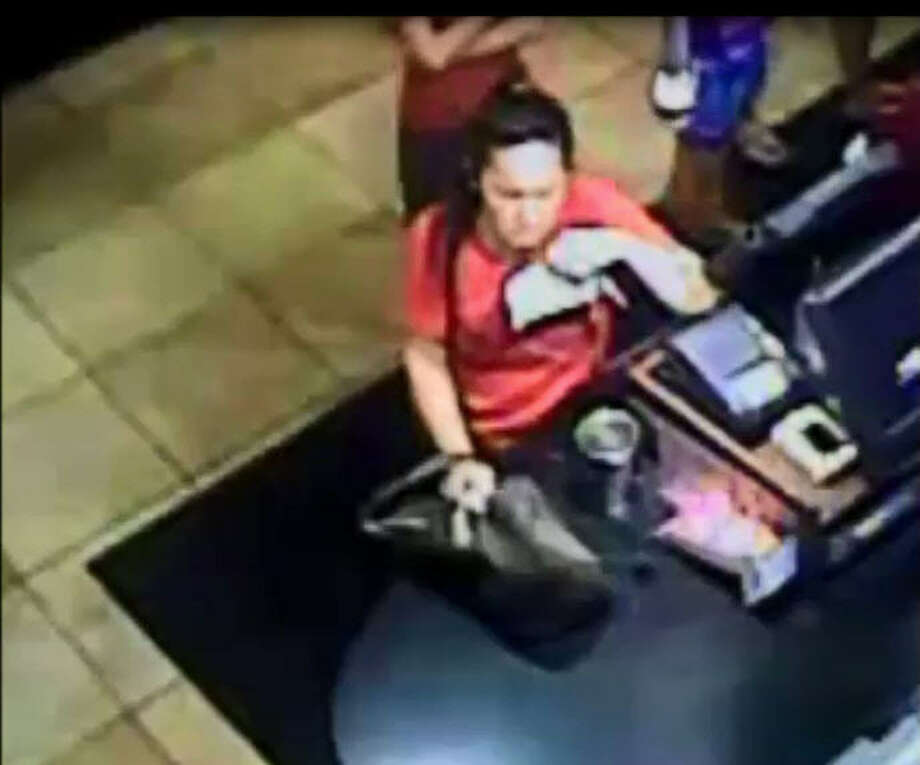 Police have released surveillance video of a woman who allegedly stole a worker's wallet and cellular phone last month at a fast-food restaurant in Sugar Land.