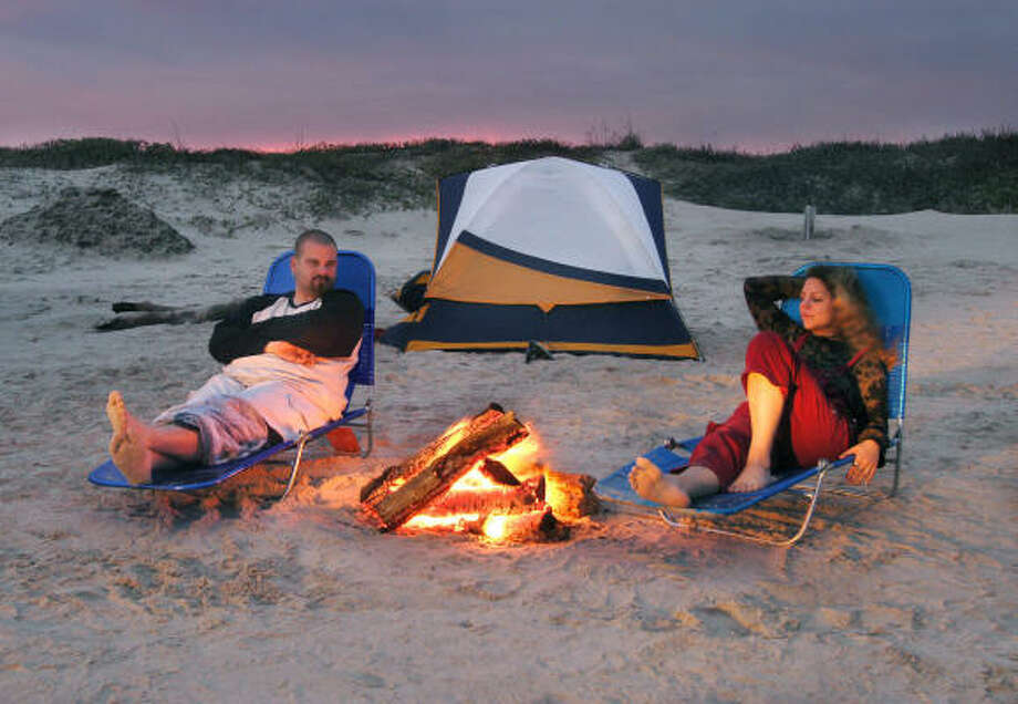 Mustang Island at Corpus ChristiThis island offers both primitive campsites ($10 per night) and campsites with water and electric ($20 per night.) Photo: Earl Nottingham, Texas Parks And Wildlife Departm