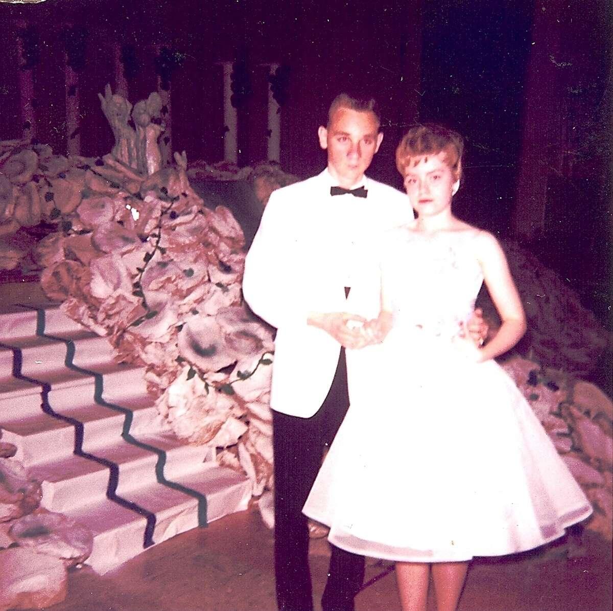 Jeanne Bright and Dennis Majeski at Thomas Jefferson High School in Council Bluff, Iowa, in 1963.