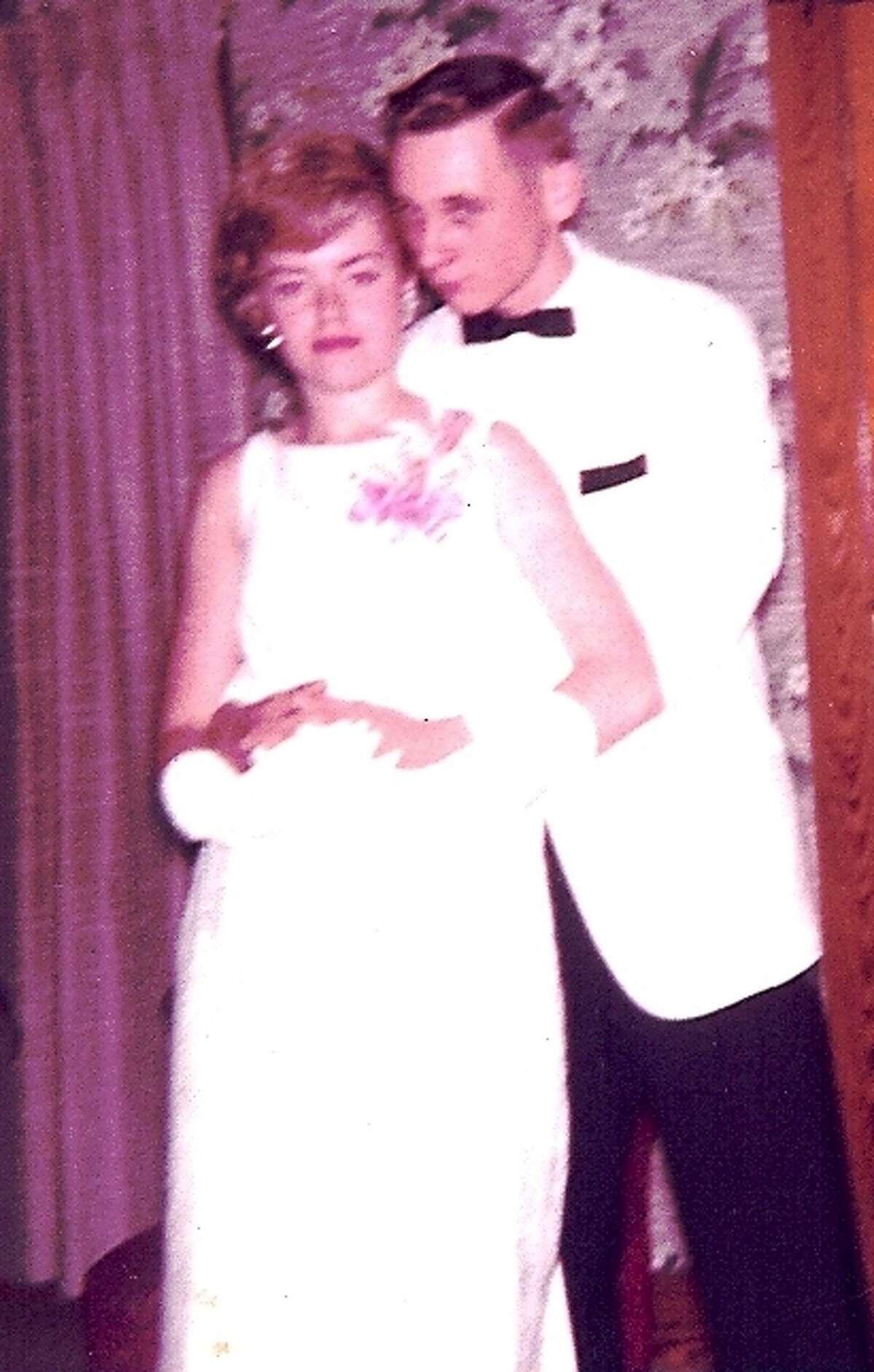 Jeanne Bright and Dennis Majeski at Thomas Jefferson High School in Council Bluff, Iowa, in 1964.