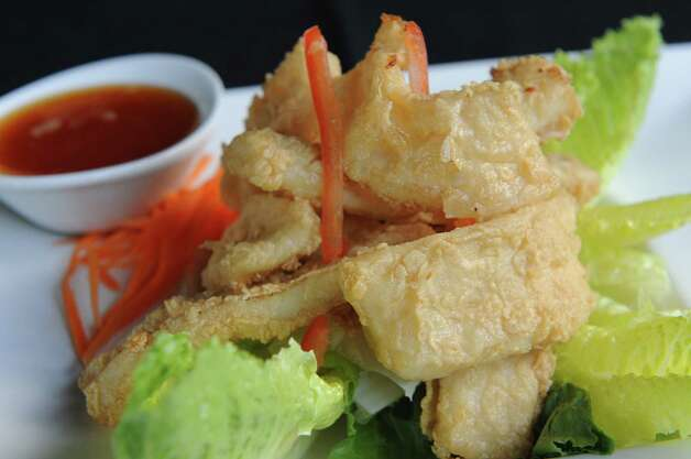 Fried calamari at BBK Bistro at 728 Loudon Rd. on Thursday, Aug. 14, 2014 in Latham, N.Y. (Lori Van Buren / Times Union) Photo: Lori Van Buren / 00028133A