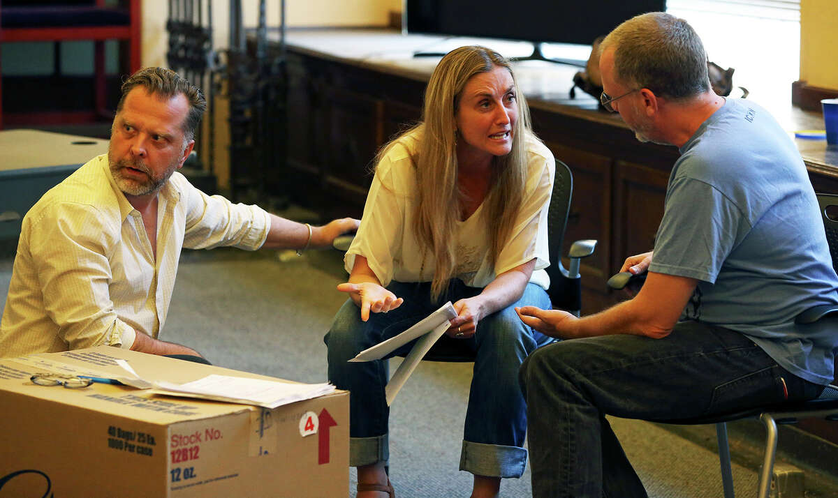 AtticRep cast members rehearse the play
