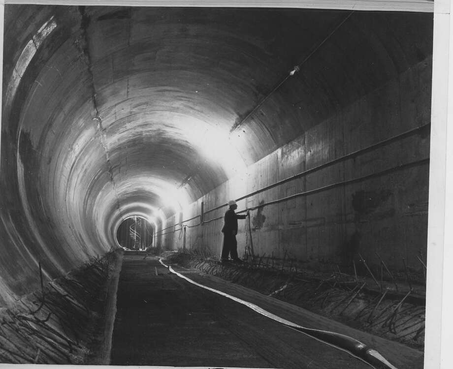Hardly anyone noticed, but September marks the 40th anniversary of the opening of the BART transbay tube and the first subway train between San Francisco and Oakland. Work on the tube started in 1966, and the first of 57 prefabricated sections of the tube were lowered into the bay in Feb. 1967. The tube was completed in 1969 and it became possible to walk under the bay from San Francisco to Oakland for the first time. BART also allowed pedestrians to walk under the bay on a special day. The tracks and signal system were installed later along with the electric third rail, which powers the trains.
