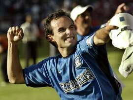 The San Jose Earthquakes' Landon Donovan celebrates after the Earthquakes defeated the Chicago Fire 4-2 in the Major League Soccer Cup championship match in Carson, California November 23, 2003. Donovan scored two goals and was named the game's most valuable player.  REUTERS/Robert Galbraith  Landon Donovan, the first player to score two goals in a championship match, was selected Player of the Game.      Landon Donovan, the first player to score two goals in a championship match, was selected Player of the Game.       Photo caption  Dummy text goes here. Dummy text goes here. Dummy text goes here. Dummy text goes here. Dummy text goes here. Dummy text goes here.Dummy text goes here. Dummy text goes here. quakes24_ph1 1069545600 X00103 The San Jose Earthquakes' Landon Donovan celebrates after the Earthquakes defeated the Chicago Fire 4-2 in the Major League Soccer Cup championship match in Carson, California November 23, 2003. Donovan scored two goals and was named the game's most valuable player.  REUTERS-Robert Galbraith  0    ProductName	Chronicle