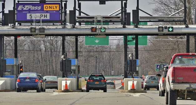 Thruway toll plaza at exit 23 Tuesday, April 2, 2013, in Albany, N.Y.  (John Carl D'Annibale / Times Union archive) Photo: John Carl D'Annibale