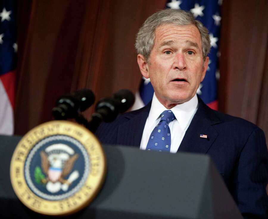 """November 2000:Reporting on George W. Bush's remarks as he clinched the presidency, Stewart replayed Bush declaring, """"I was not elected to serve one party,"""" to which he retorted, """"You were not ELECTED."""" Then back to Bush saying, """"I ask for you to pray for this great nation."""" To which Stewart added somberly, """"We're waaaaay ahead of you."""" Photo: Pool, Getty Images  / 2008 Bongarts"""