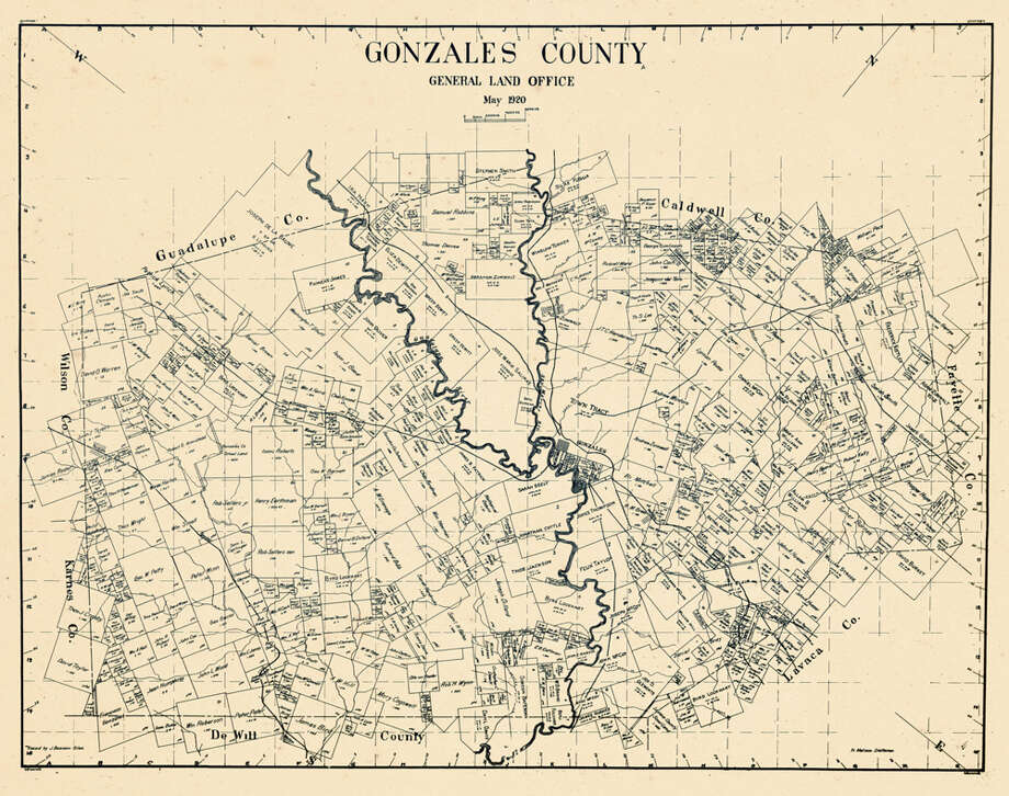 Gonzales County, 1920 Photo: Historic Map Works LLC, Getty Images / Historic Map Works