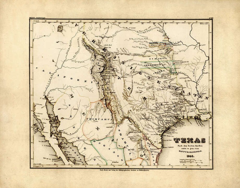 Texas as a state, 1846 Photo: Historic Map Works LLC, Getty Images / Historic Map Works