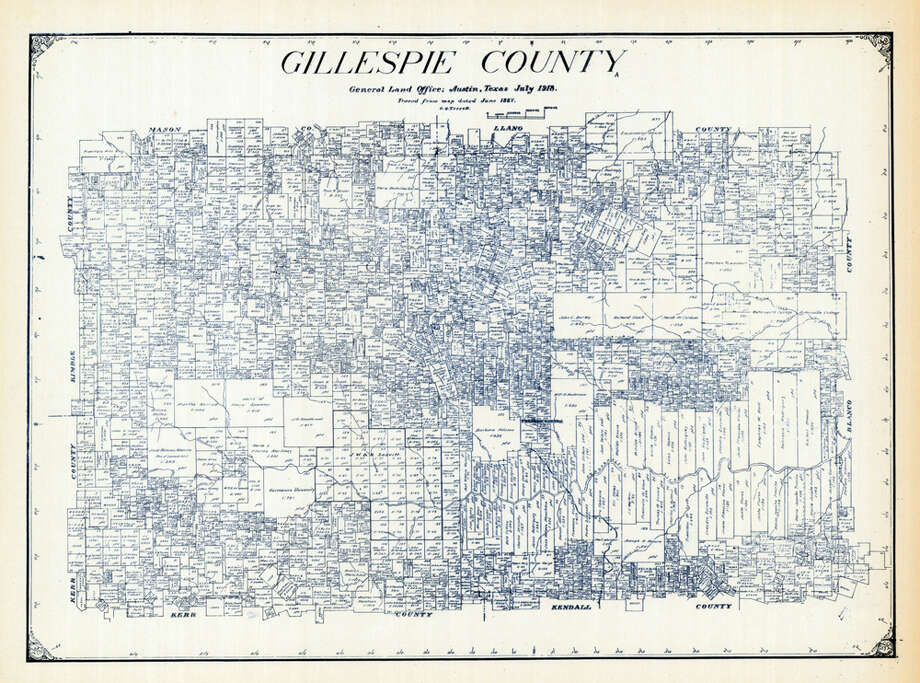 Gillespie County, 1918 Photo: Historic Map Works LLC, Getty Images / Historic Map Works
