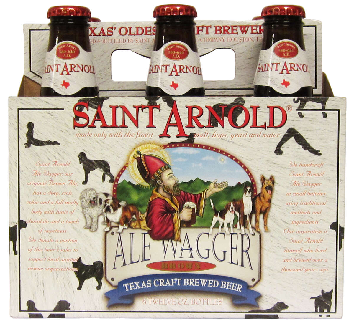 Saint Arnold is renaming its Brown Ale as Ale Wagger with images of dogs in the packaging.