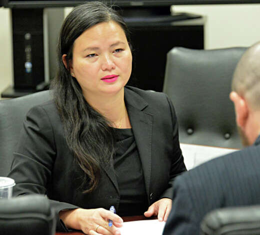 Senior Investigative Counsel Pei Pei Cheng-de Castro during the New York State Joint Commission on Public Ethics (JCOPE) hearings on Failure to File Client Semi-Annual Reports Wednesday Sept. 10, 2014, in Albany, NY.  (John Carl D'Annibale / Times Union) Photo: John Carl D'Annibale, Albany Times Union / 00028554A