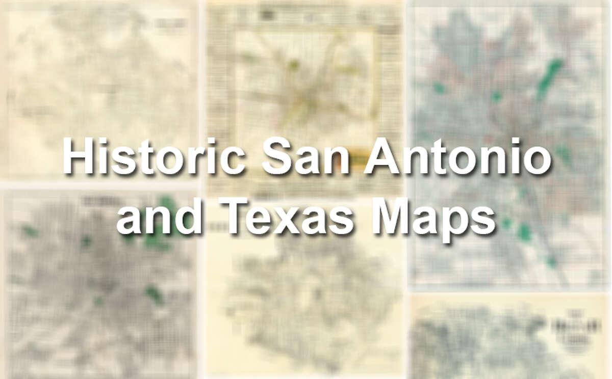 Historic San Antonio and Texas Maps