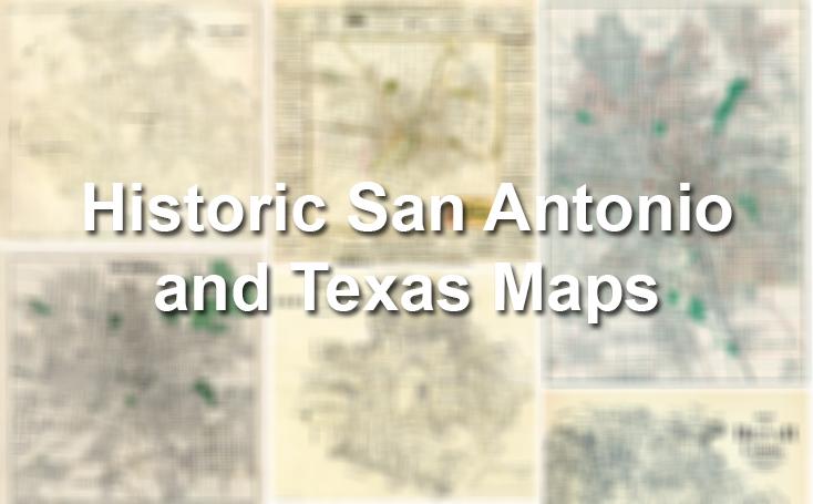 Historic San Antonio And Texas Maps San Antonio Express News