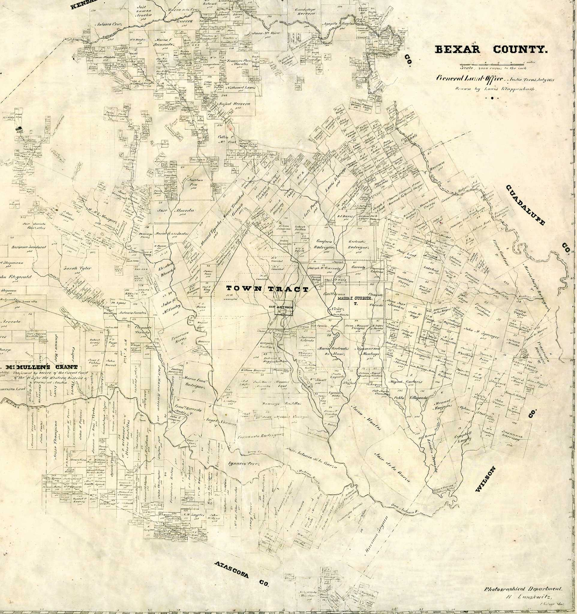 Map Slider: Bexar County, 1871 And 2014