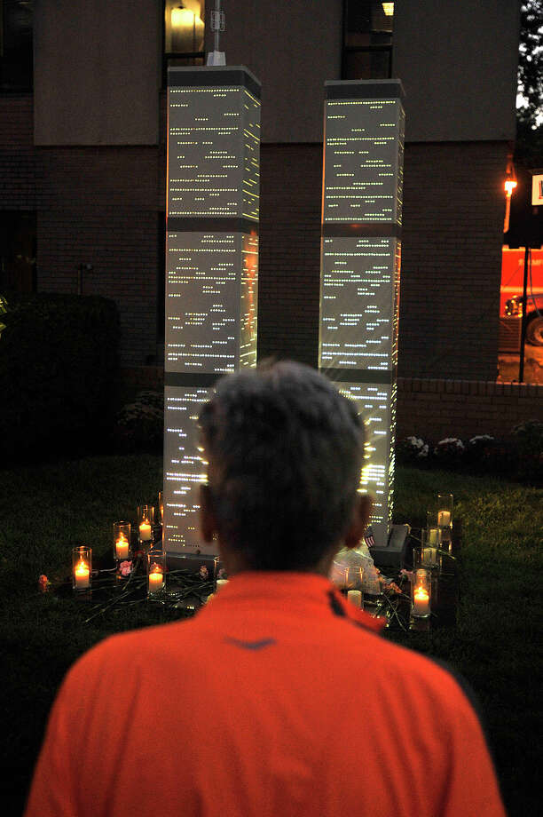 Scenes from the annual Sept. 11 terrorist attack remembrance ceremony at the Woodside Fire House on Washington Boulevard in Stamford, Conn., on Thursday, Sept. 11, 2014. Photo: Jason Rearick / Stamford Advocate