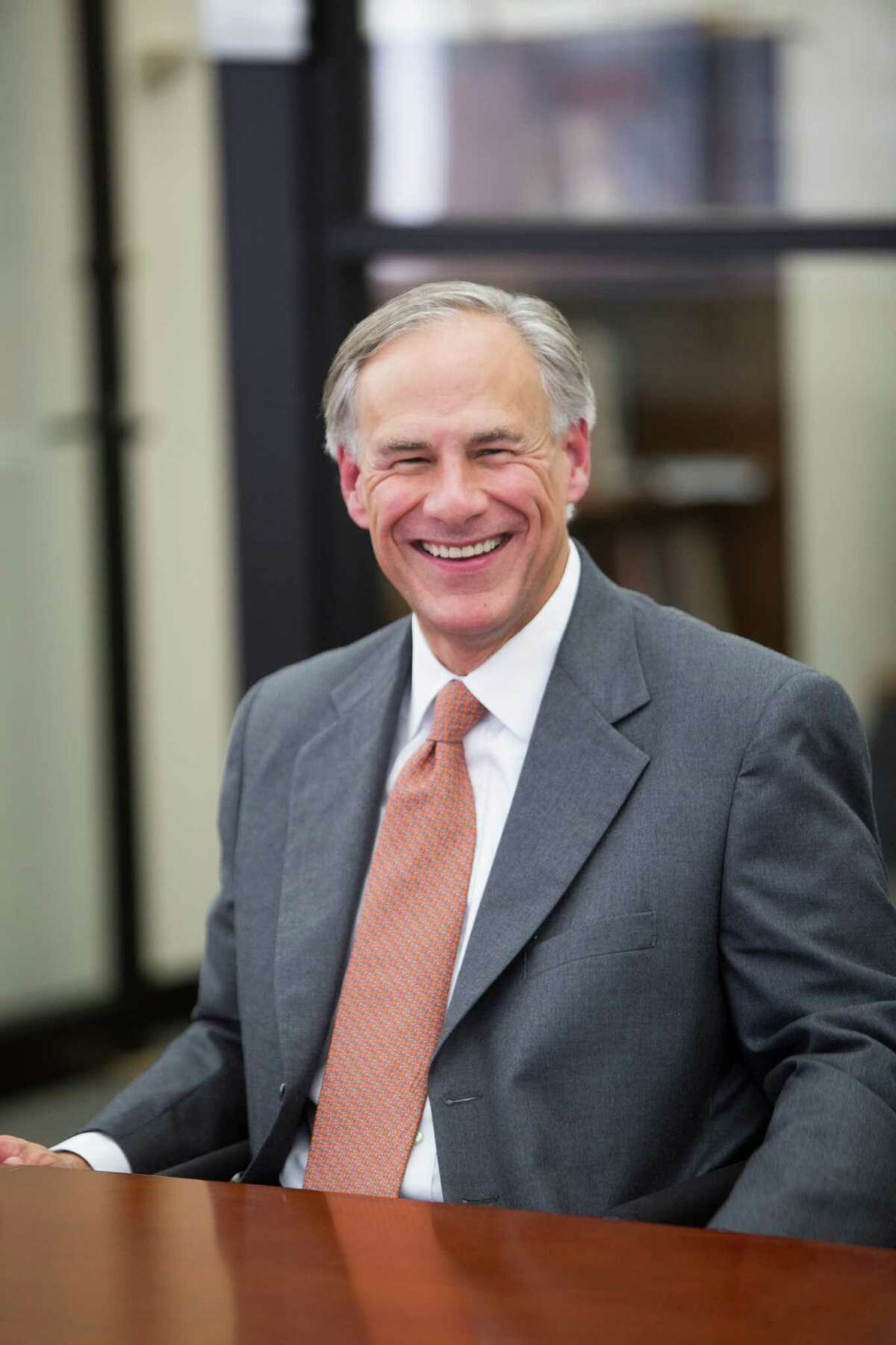 Texas Attorney General Greg Abbott visits the Houston Chronicle editorial board on Thursday. Abbott is running against Wendy Davis in the Nov. 4 elections.