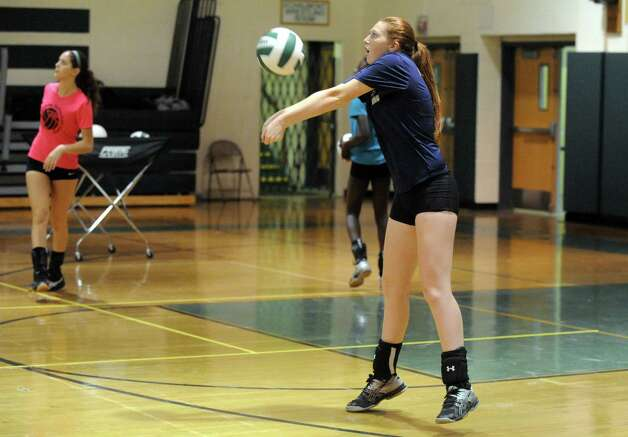 Schalmont High School girls' volleyball player Megan Hyde during their team practice on Thursday Sept. 11, 2014 in Rotterdam, N.Y. (Michael P. Farrell/Times Union) Photo: Michael P. Farrell / 00028559A