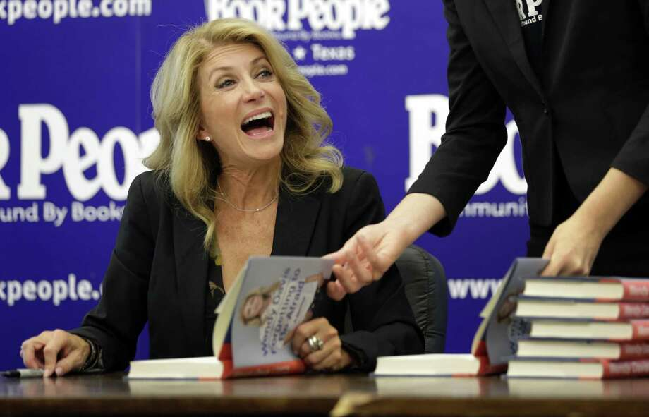 "A spokesman for state Sen. Wendy Davis, shown in Austin, called the formal complaint ""politically motivated and frivolous."" Photo: Eric Gay, Associated Press / AP"
