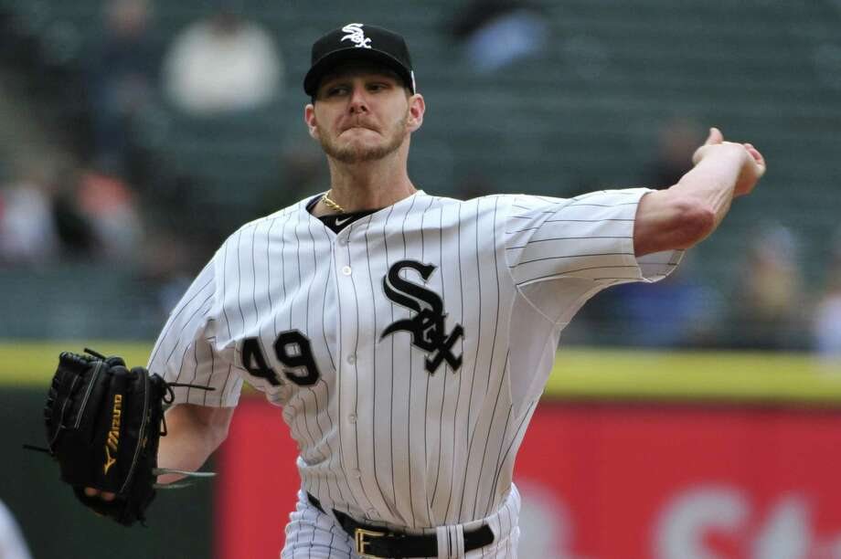 Chris Sale delivers in the first of his eight shutout innings in Chicago. He gave up two hits in the win. Photo: David Banks / Getty Images / 2014 Getty Images