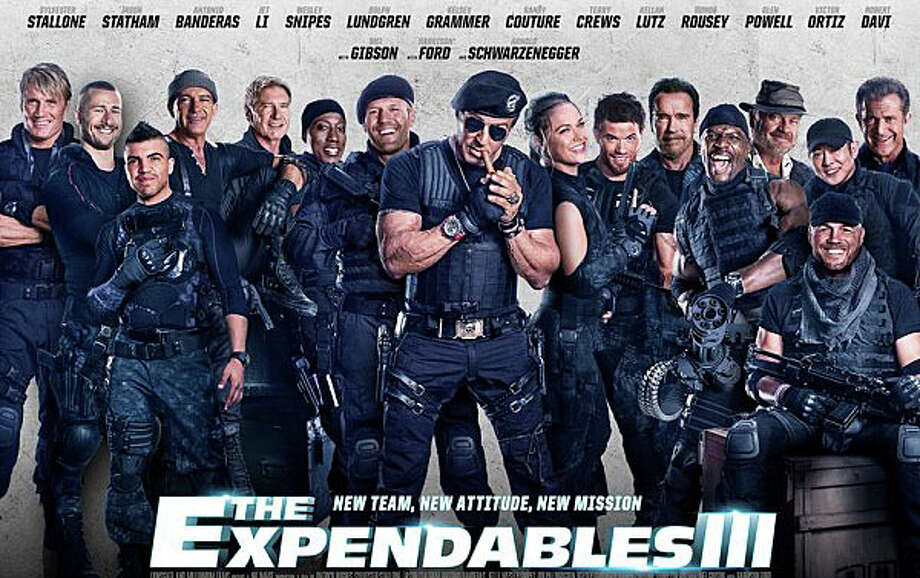 """""""The Expendables 3,"""" featuring a cast of veteran action-movie stars, is playing in area theaters. Photo: Contributed Photo / Westport News"""