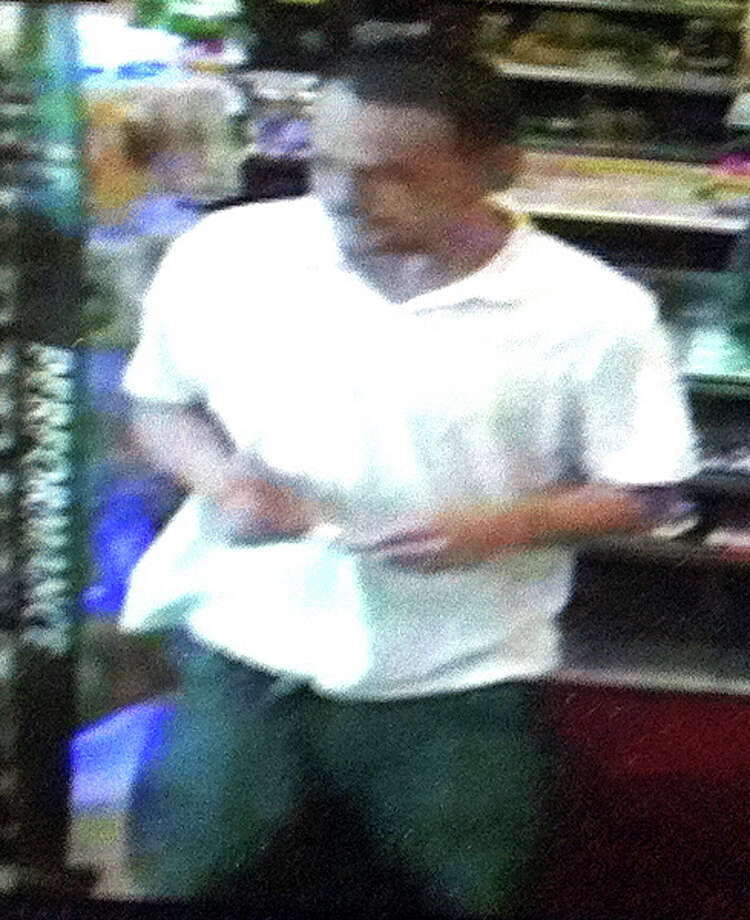 Police are asking for help in locating this man, suspected of stealing a debit card from a customer at Duchess Restaurant in June. Photo: Contributed Photo /  Fairfield Citizen contributed