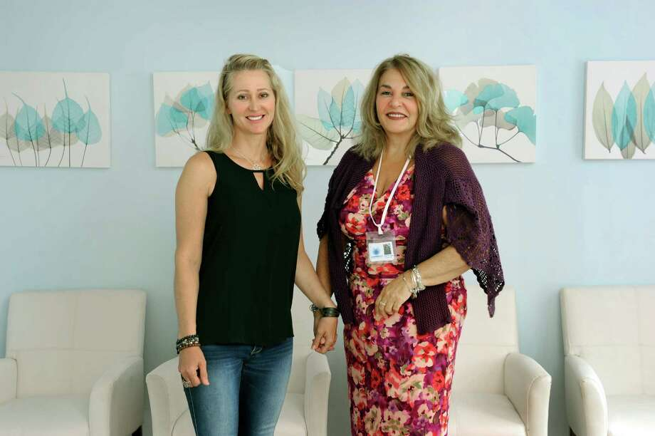 Karen Barski, left, and Angela D'Amico, of Trumbull, Conn. are the owners of the Compassionate Care Center, medical marijuana dispensary opening on Garella Road in bethel, Conn. Photo taken Thursday, Sept. 11, 2014. Photo: Carol Kaliff / The News-Times
