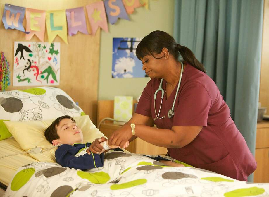 Charlie (Griffin Gluck) lies in a coma, able to hear everything going on around him, and Nurse Jackson (Octavia Spencer) is the ward czarina, who has a kind heart. Charlie also manages to narrate the series despite his comatose state. Photo: Annette Brown, Associated Press