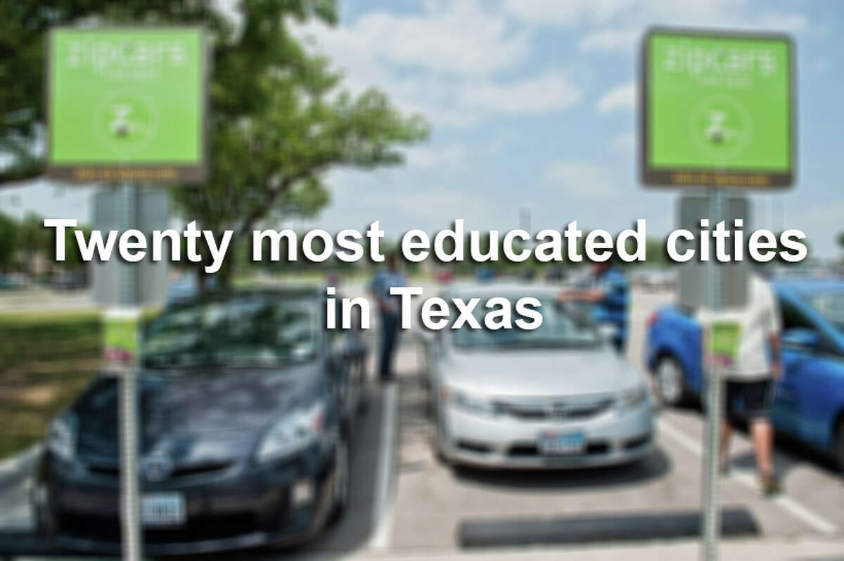 Here are the twenty most educated cities in Texas, according to the U.S. Census Bureau.