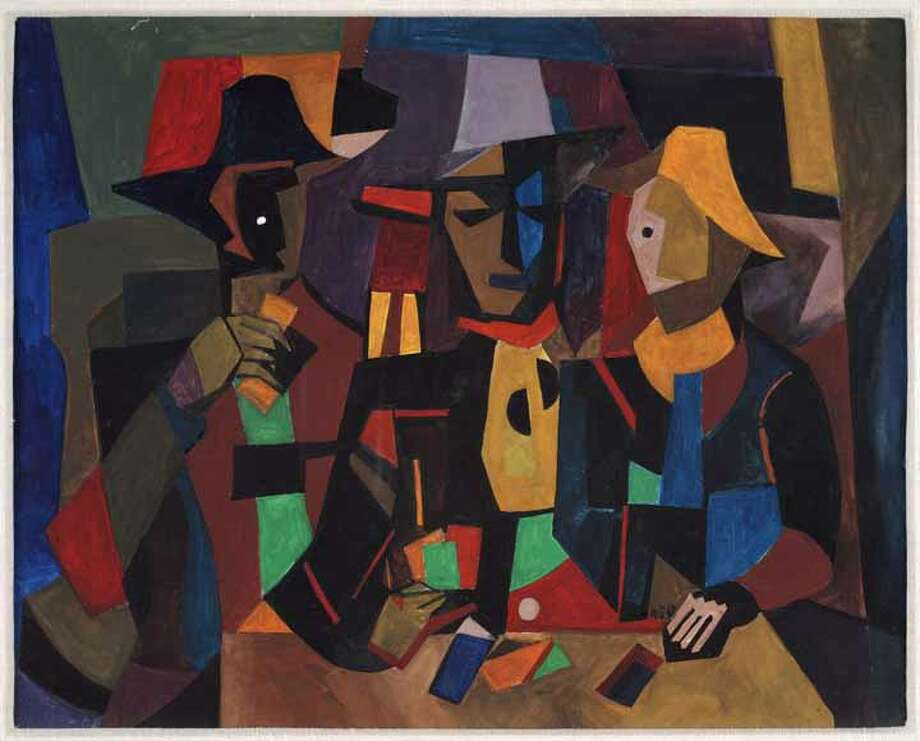 """William Sylvester Carter's 1990 Picasso-inspired painting """"The Gambler"""" is among works on view in """"African American Treasures From the Kinsey Collection,"""" presented by Wells Fargo and the Houston Museum of African American Culture through Oct. 26. Photo: The Kinsey Collection / ONLINE_YES"""