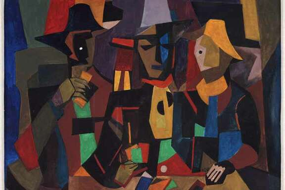 "William Sylvester Carter's 1990 Picasso-inspired painting ""The Gambler"" is among works on view in ""African American Treasures From the Kinsey Collection,"" presented by Wells Fargo and the Houston Museum of African American Culture through Oct. 26."
