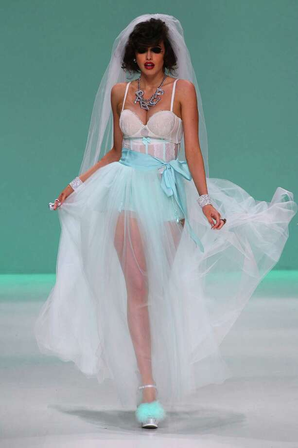 A model walks the runway at Betsey Johnson during Mercedes-Benz Fashion Week Spring 2015 at The Salon at Lincoln Center on September 10, 2014 in New York City.  (Photo by Edward James/WireImage) Photo: Edward James, Getty Images / 2014 Edward James