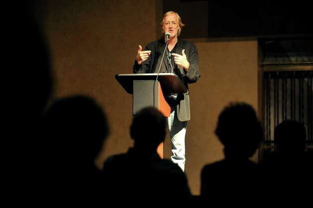 """Chip Duncan, a documentary filmmaker and author, screens clips from """"The Reagan Presidency"""" on Thursday, Sept. 11, 2014, at The Linda in Albany, N.Y. (Cindy Schultz / Times Union) Photo: Cindy Schultz / 00028569A"""